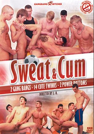 Sweat And Cum, starring John Fox, Jack Rider, Jack Harrer, Jan Cores, Thomas Fiaty, Jimmy Corey, Caleb Moreton, Martin Love, Aslan Brutti, Nick Daniels, George Basten, Denis Reed, Johan Volny, Peter *, Shane (m), Chris Young and Chad Ward, produced by CaJo Films.