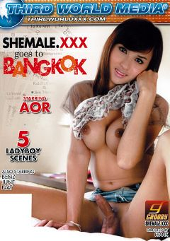 "Adult entertainment movie ""Shemale.XXX Goes To Bangkok"" starring Aor, Nat (o) & June (o). Produced by Grooby Productions."