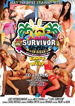"Adult entertainment movie ""T-Girl Survivor: East Vs West"" starring Giselle Davila, Muay & Som. Produced by Ultimate T-Girl Productions."