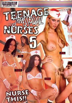 "Adult entertainment movie ""Teenage Transsexual Nurses 5"" starring Barbara Kysivics, Laura Trajano & Monica Raudiche. Produced by Robert Hill Releasing Co.."