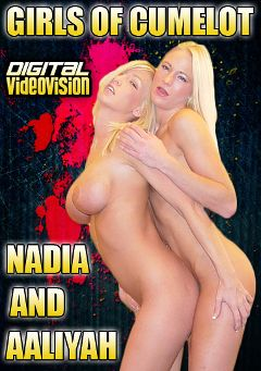 "Adult entertainment movie ""Girls Of Cumelot: Nadia And Aaliyah"" starring Aaliyah Jolie, Nadia Hilton & David Cumelot. Produced by Digital Videovision."
