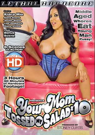 Your Mom Tossed My Salad 10, starring Kiara Mia, Lisa DeMarco, Joclyn Stone, Diana Prince and Alana Evans, produced by Lethal Hardcore.