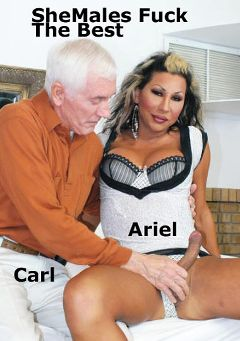 "Adult entertainment movie ""SheMales Fuck The Best"" starring Ariel Everitts & Carl Hubay. Produced by Hot Shemales Video."