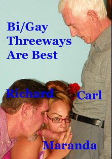 Bi Gay Threeways Are The Best, starring Carl Hubay, Richard and Maranda, produced by Hot Dicks Video.
