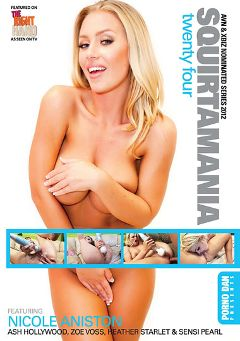 "Adult entertainment movie ""Squirtamania 24"" starring Nicole Aniston, Sensi Pearl & Ash Hollywood. Produced by Immoral Productions."