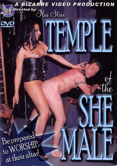 "Adult entertainment movie ""Temple of the Shemale"" starring Claire, Vida DeVille & Mistress Ilsa Strix. Produced by Bizarre Video Productions."
