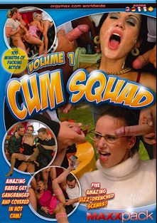 Cum Squad, starring Cynthia Vellons, Rita Stone, Sarah Twain, Claudia Rossi, Trisha, Thomas Crown and George Reno, produced by Eromaxx.