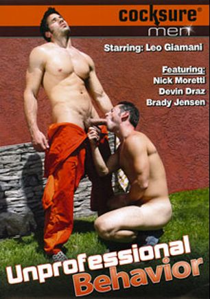 Unprofessional Behavior, starring Ari Silvio, Leo Giamani, Brady Jensen, Chad Manning, Tristan Phoenix, Bo Dean, Nick Moretti, Tristan Jaxx and Devin Draz, produced by Jake Cruise Media and Cocksure Men.