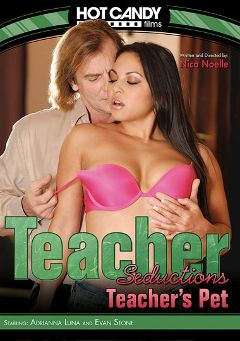 "Adult entertainment movie ""Teacher Seductions: Teacher's Pet"" starring Adrianna Luna & Evan Stone. Produced by Hot Candy Films."