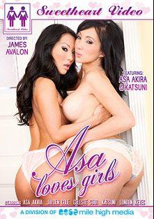 Asa Loves Girls, starring Asa Akira, Katsuni, Jayden Cole, London Keyes and Celeste Star, produced by Mile High Media and Sweetheart Video.