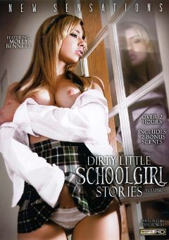 "Adult entertainment movie ""Dirty Little Schoolgirl Stories 4"" starring Molly Bennett, Rilynn Rae & Kendall Karson. Produced by New Sensations."