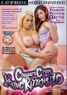 Cougars Crave Young Kittens 10, starring Cassie Laine, Candy Manson, Kiera Kelly, Natasha Malkova, Mia Malkova, Jennifer Best, Samantha Ryan and Diana Doll, produced by Lethal Hardcore.