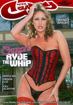 "Adult entertainment movie ""Cougars Ryde The Whip"" starring Mandy Bright, Freddie Elle & Joey Valentine. Produced by Candy Shop."