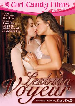 "Adult entertainment movie ""Lesbian Voyeur"" starring Allie Haze, Shay Laren & Sovereign Syre. Produced by Girl Candy Films."