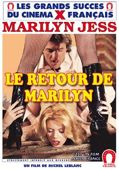 "Adult entertainment movie ""The Return Of Marilyn Jess"" starring Marilyn Jess, Rosy Stuart & Mina Houghe. Produced by ALPHA-FRANCE."