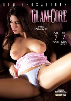 "Adult entertainment movie ""Glam-Core"" starring Karina White, Dillion Harper & Casi James. Produced by New Sensations."