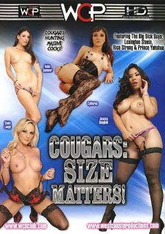 "Adult entertainment movie ""Cougars: Size Matters"" starring Jessica Bangkok, India Summer & Sindy Lange. Produced by West Coast Productions."