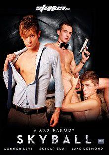 Skyball A XXX Parody, starring Connor Levi, Skylar Blu, Luke Desmond, Sean Davoy, Kyle Dickson, Aaron Aurora and Kai Alexander, produced by Staxus.