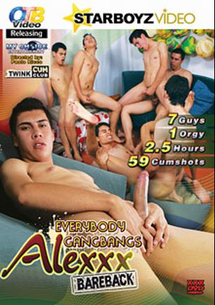 Everybody Gangbangs Alexxx Bareback, starring Stefan Lenix, Petr Resler, Honza Franzl, Joey Intenso, Lukas Zip, Ondrej Sokol, Alex, Rudolf Schneider and Zack Hood, produced by OTB Video and CJXXX.