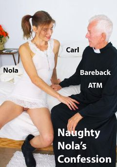 "Adult entertainment movie ""Naughty Nola's Confession"" starring Nola Star & Carl Hubay. Produced by Hot Clits Video."