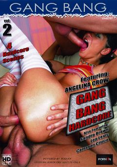 "Adult entertainment movie ""Gang Bang 2"" starring Angelina Crow, Lea Lush & Sandra Brown. Produced by Porn XN."