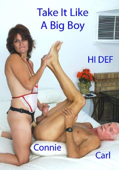"Adult entertainment movie ""Take It Like A Big Boy"" starring Connie Sears & Carl Hubay. Produced by Hot Clits Video."