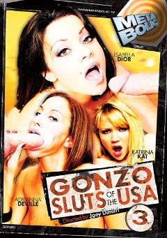 "Adult entertainment movie ""Gonzo Sluts Of The USA 3"" starring Katrina Kat, Adriana DeVille & Isabella Dior. Produced by Sunset Media."