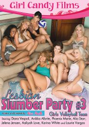 """Featured Category - Schoolgirls presents the adult entertainment movie """"Lesbian Slumber Party 3: Girls Volleyball Team""""."""