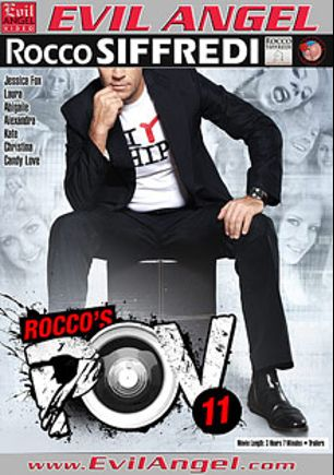 Rocco's POV 11, starring Kristine Crystalis, Isabella Christyn, Abigaile Johnson, Candy Love, Laura Crystal, Leony Dark, Kate and Rocco Siffredi, produced by Evil Angel, Buttman Magazine Choice and Rocco Siffredi Productions.