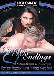 "Featured Category - Massage presents the adult entertainment movie ""Happy Endings: Dominant Masseuse Taunts Frustrated Young Stud""."