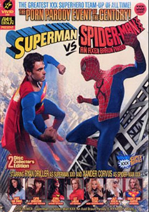 Superman Vs Spider-Man XXX A Porn Parody, starring Lily Labeau, Jazy Berlin, Capri Anderson, Kagney Linn Karter, Andy San Dimas, Alexis Texas, Jenna Presley, William Bibbiani, Rob Black, Xander Corvus, Ash Hollywood, Michael Vegas, Sarah Shevon, Ryan Driller, Peter O Tool, Will Ryder, James Bartholet, Seth Dickens, Tyler Knight and Eric Masterson, produced by Axel Braun Productions and Vivid Entertainment.