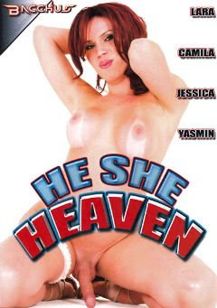 "Adult entertainment movie ""He She Heaven"" starring Jessica Dee (o), Jose Munoz & Mathew. Produced by Totally Tasteless Video."
