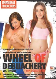 """Featured Studio - Immoral Productions presents the adult entertainment movie """"Wheel Of Debauchery 12""""."""