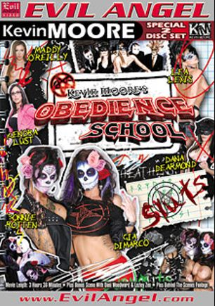 Obedience School, starring Kendra Lust, Bonnie Rotten, Maddy O'Reilly, Gia Dimarco, Lea Lush, Dana DeArmond, Michael Vegas, Billy Hart, Kevin Moore, Danny Wylde, Derrick Pierce, Alec Knight, Dani Woodward, Lezley Zen and Mr. Pete, produced by Evil Angel.