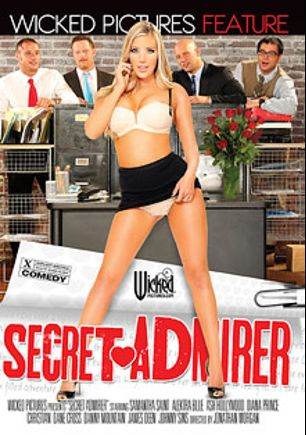 Secret Admirer, starring Samantha Saint, Ash Hollywood, Dane Cross, Diana Prince, Johnny Sins, Christian XXX, Alektra Blue, James Deen and Danny Mountain, produced by Wicked Pictures.