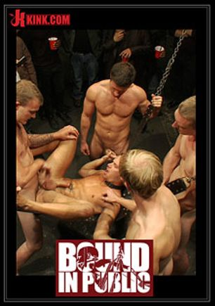 Bound In Public: The Sacrificial Cum Whore Halloween Update, starring Christian Wilde, Shane Frost and Tristan Jaxx, produced by KinkMen.