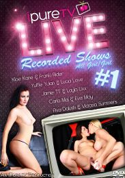 """Featured Category - Lesbian presents the adult entertainment movie """"Live Recorded Shows""""."""