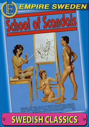 School Of Scandals, starring Monica Anders, Suzy Anderson, Edward Mannering, Manus Aagelarsen, Marcus Osterdahl, Nickan Harding, Bridget Mayers, Jim Steffe, Peter Berg, Jack Frank, Berit Agedahl, Teresa Svensson and Kim Frank, produced by Empire Sweden.
