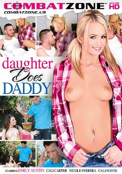 "Adult entertainment movie ""Daughter Does Daddy"" starring Emily Austin, Nicole Ferrera & Cali Carter. Produced by Combat Zone."