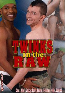 Twinks In The Raw, starring Chas, Debonair, Chip, Tony Michaels, Entice (m), Alley Cat, Bushido Brown, Vokalz, Sean Wade and Taurus, produced by Bacchus.