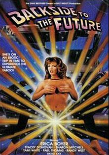 Backside To The Future, starring Erica Boyer, Candi Evens, Tami White, Rocky DeLorenzo, Francois Papillon, Sharon Mitchell, Stacey Donovan, Randy West and Paul Thomas, produced by Alpha Blue Archives.