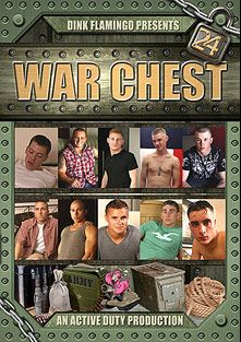 War Chest 24, starring Mckenzie (m), Swedish, Landon, Tucker, Sawyer, Kenny, Marcus, Sergio and Jimmy, produced by Active Duty.