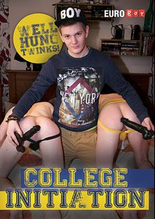 College Initiation, starring Aaron Aurora, Thomas Swings, Luke James, Sean Mann, Alec Steele, Drake Law, Josh Parker, Christian Martin, Bryan Moore and Lex Blond, produced by Euroboy.