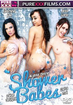 "Adult entertainment movie ""Shower Babes"" starring Jasmine Jae, Alyssa Divine & Jess West. Produced by Purexxxfilms."