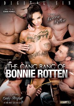 "Adult entertainment movie ""The Gang Bang Of Bonnie Rotten"" starring Bonnie Rotten, Cindy Starfall & Michael Vegas. Produced by Digital Sin."