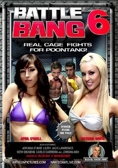"Adult entertainment movie ""Battle Bang 6"" starring Victoria White, April O'Neil & Lilith Page. Produced by Antigua Pictures."