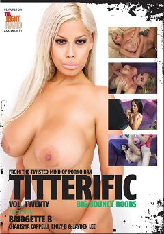 "Adult entertainment movie ""Titterific 20"" starring Emily B., Jayden Lee & Charisma Cappelli. Produced by Immoral Productions."