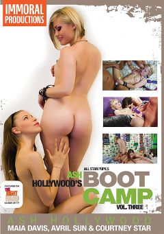 "Adult entertainment movie ""Ash Hollywood's Boot Camp 3"" starring Avril Sun, Courtney Star & Maia Davis. Produced by Immoral Productions."