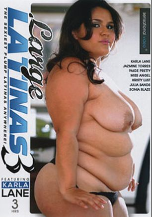 Large Latinas 3, starring Karla Lane, Miss Angel (f), Jasmine Torres, Julia Sands, Paige Pretty, Sonia Blaze and Kristi Lust, produced by Sensational Video.
