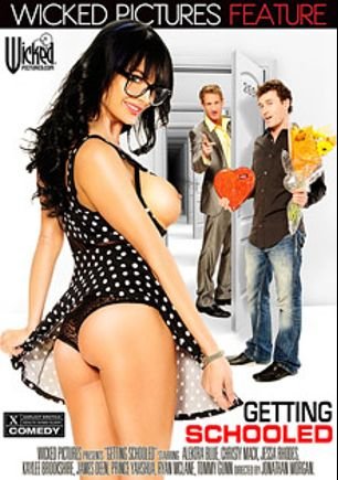 Getting Schooled, starring Alektra Blue, Kaylee Brookshire, Jessa Rhodes, Ryan McLane, Christy Mack, Prince Yahshua, Tommy Gunn and James Deen, produced by Wicked Pictures.